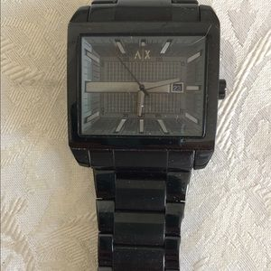A/X Men's Watch Black with square face